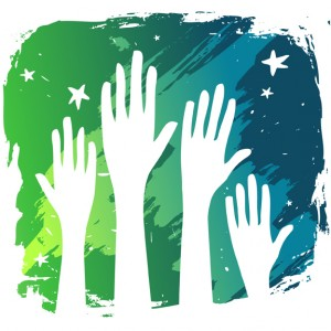 hands-in-the-air on volunteer screening blog